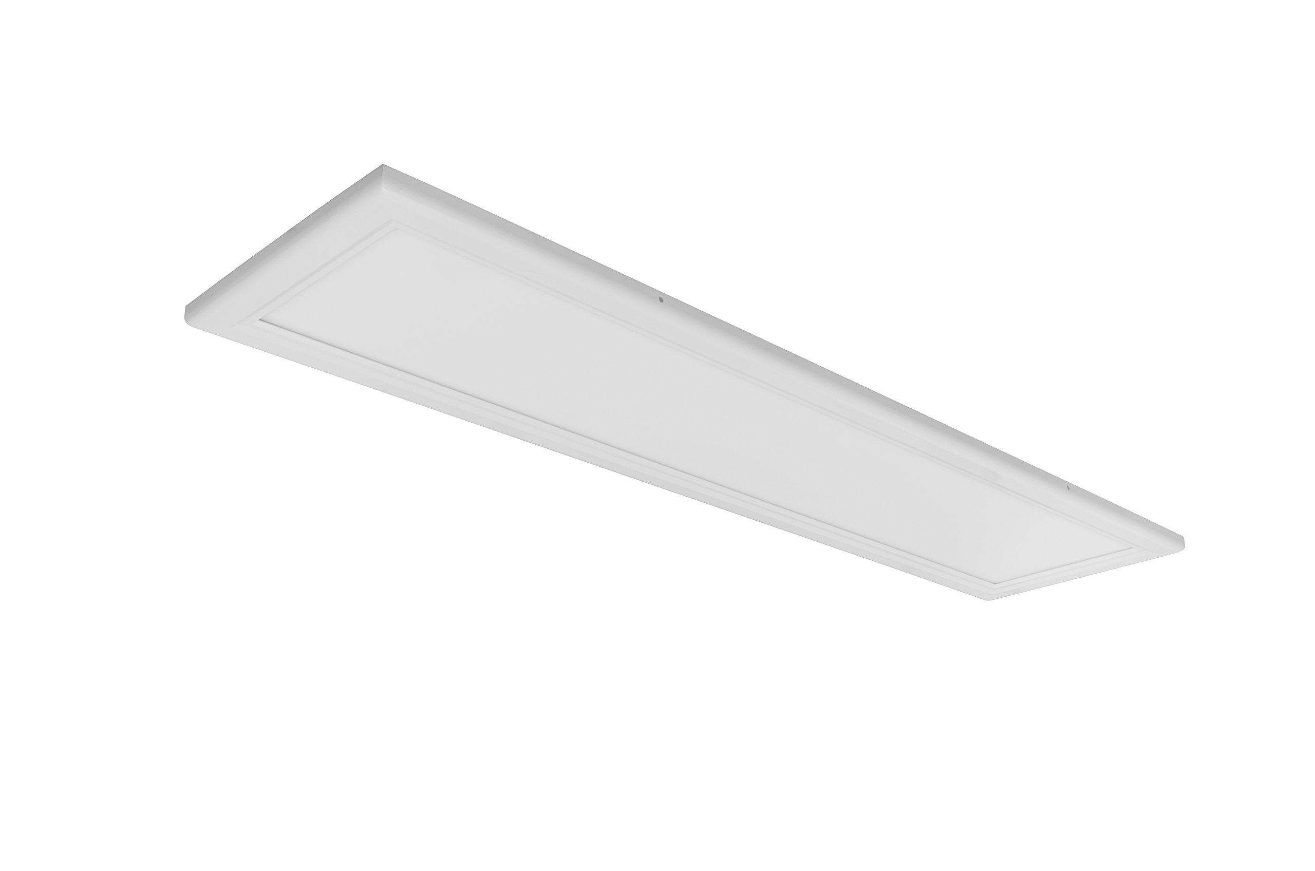 Inti Lighting 1'x4' Dimmable 50 Watt LED Flush Mount Troffer Flat Panel Light 4000K Bright White