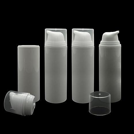 Vacío Rellenable blanco Airless Bomba de vacío botella recipiente dispensador de crema/Suero/tratamiento