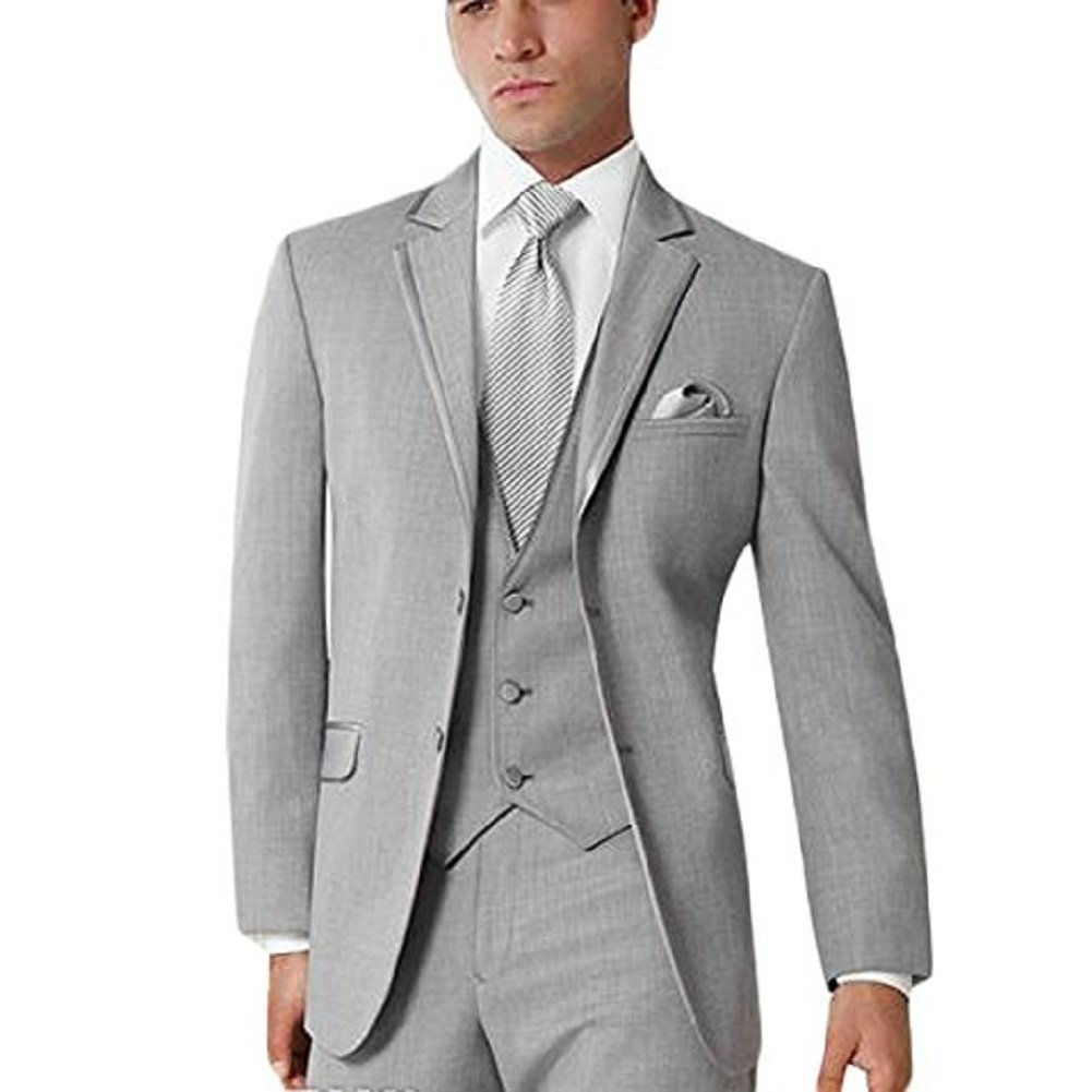 Lilis® Men's Custom Made Bridegroom Wedding 3-Piece Tuxedo Suit Pants Vest Set Aspen LL17081403