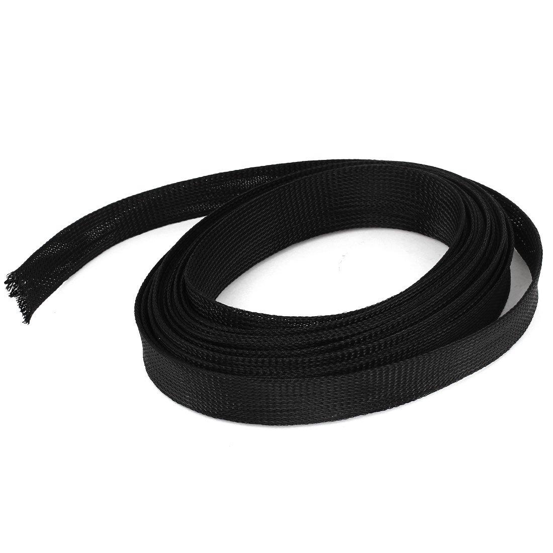25 mm x 8 m, Maschen Takelage schwarzer Kabelmantel (dehnbar ...