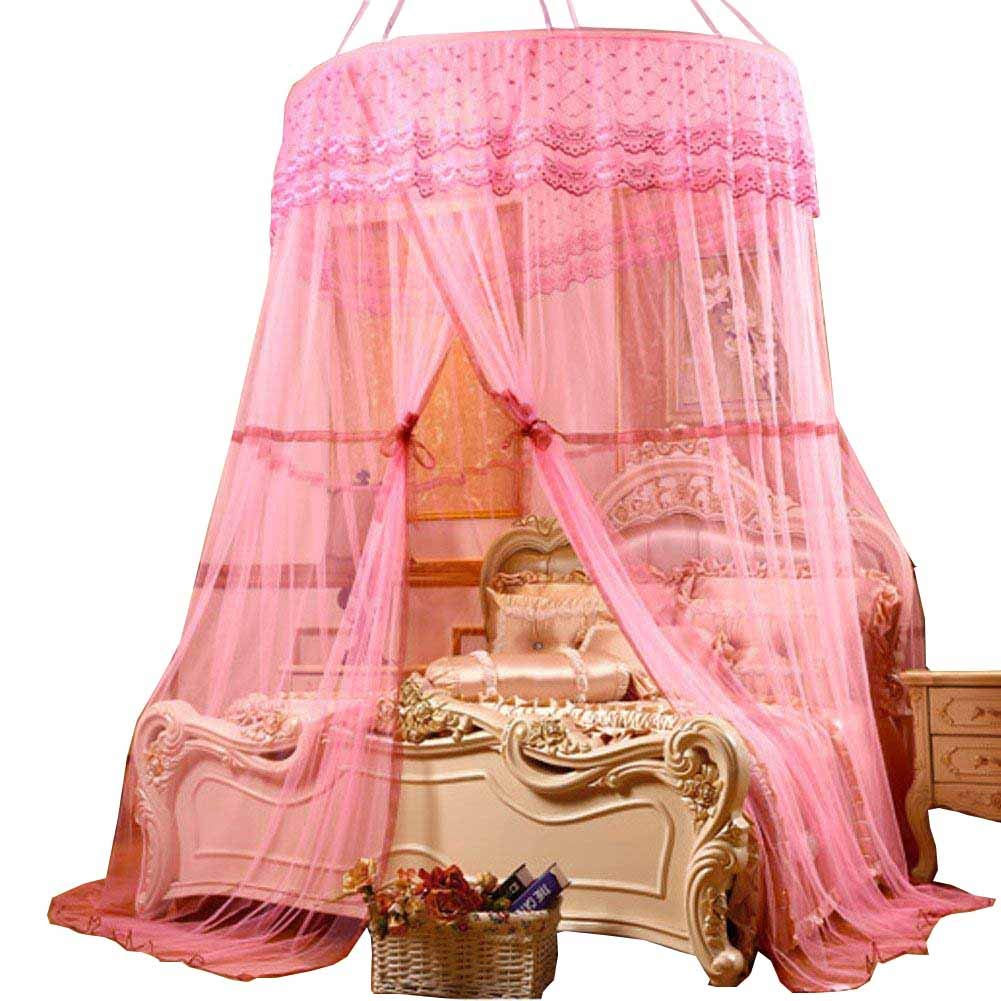 POPPAP Bed Canopy Extro Large Ceiling Hanging Dream Tent for Kids Girls Boys Bedroom Decor Pink Color (Little Princess)