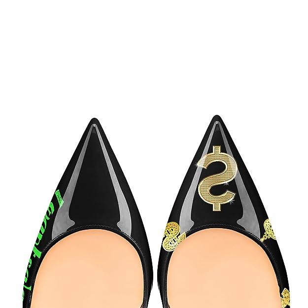 9a83c7a92d520 MMGZ Femmes - Escarpins - Cuir synthétique -Impression- Talon aiguille - Bout  pointu fermé  Amazon.fr  Chaussures et Sacs