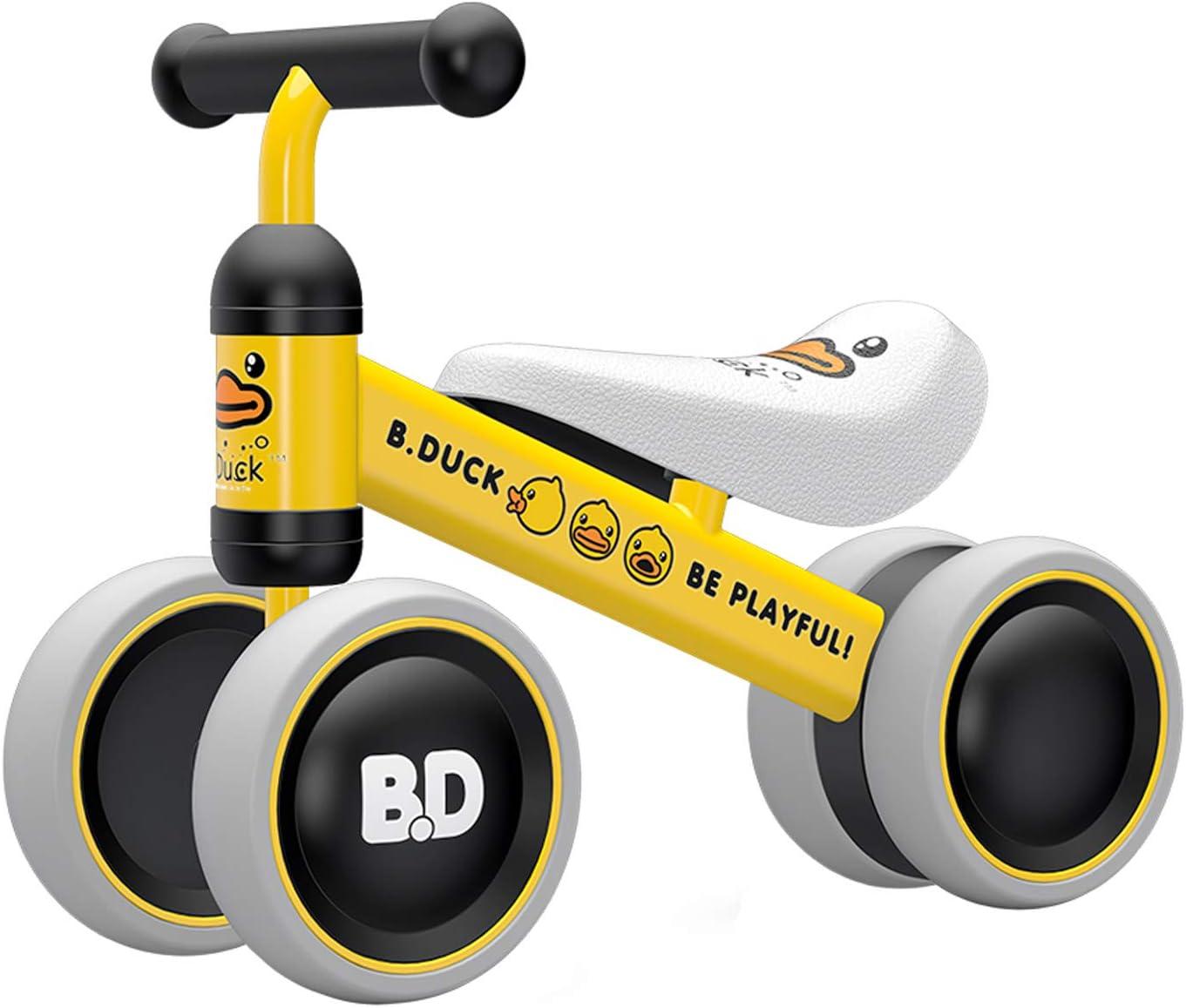 XIAPIA Bicicleta sin Pedales para Niños Bicicleta Bebe 1 Año Bicicleta Equilibrio 1 Año Bicicleta Infantil sin Pedales de Forma Animal Lindo de Regalo Favorito del Niño (Duck)