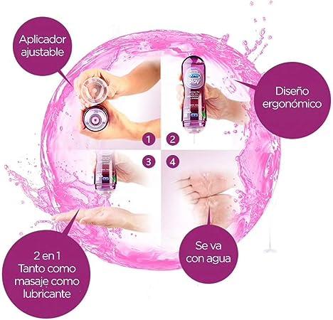 Durex Play Massage 2 en 1 Gel de Masaje & Lubricante Intimo con ...