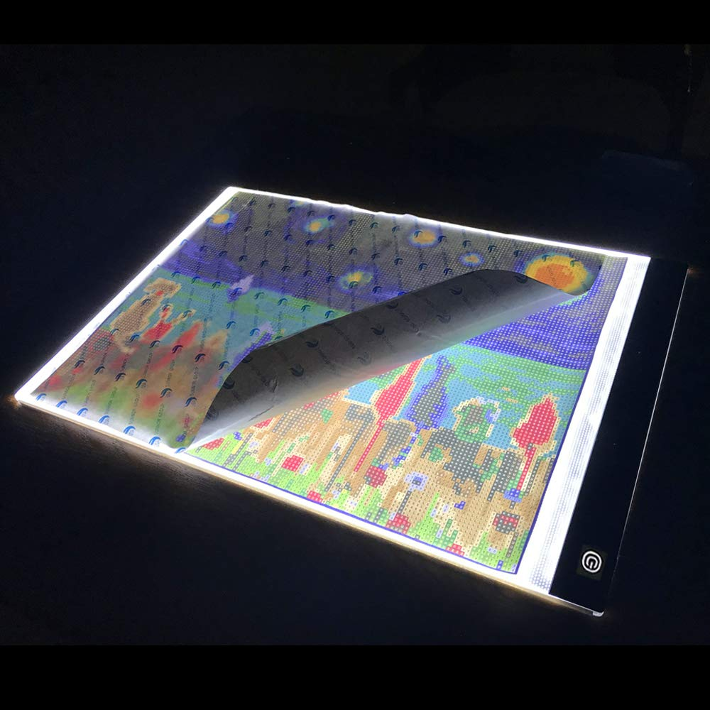 Diamond Painting A4 LED Light Pad Board Tablet Ultrathin Dimmable Apply to Full Drill & Partial Drill 5D Diamond Painting Rhinestone Embroidery Dots Cross Stitch by Number Kit Orment 4336952669