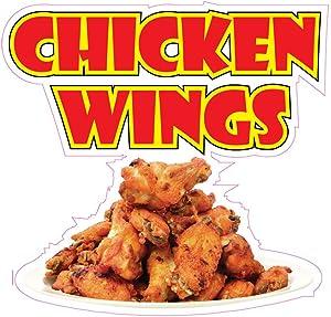 Chicken Wings Concession Restaurant Food Truck Die-Cut Vinyl Sticker 10 inches