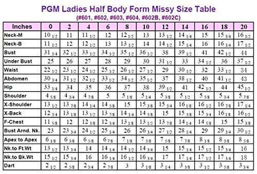 PGM Dress Form Size 4 w//Flat Hip 3 year manufacturer warranty Professional Female Dress Form 602B