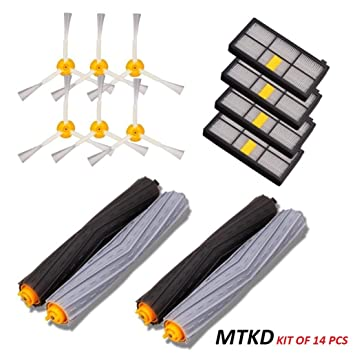 MTKD Kit de Recambios para iRobot Roomba Serie 800 y Serie 900 - Kit de 14