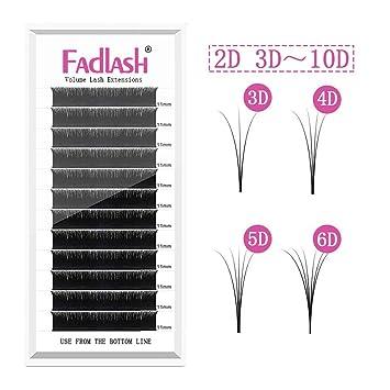 2e501469b86 Amazon.com : Volume Lash Extensions 2D 4D 5D 6D~10D Cluster Lashes C Curl  0.05mm 10mm Knot Free Individual Eyelashes 7D 8D Professional Flare Lashes  : ...