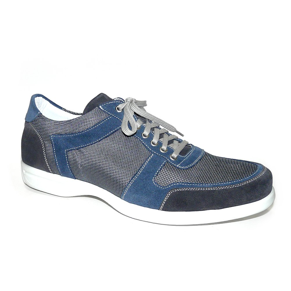 Worland Mod.1298 Numeros Grandes 100% Made In Italy - Zapatillas Hombre Velour/Tela 47|Gris