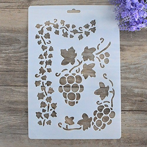 DIY Decorative Stencil Template for Painting on Walls Furniture Crafts (Grape)