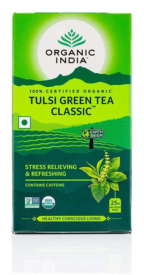 Organic India Tulsi Green Tea Classic - 25 Tea Bags: Amazon.in