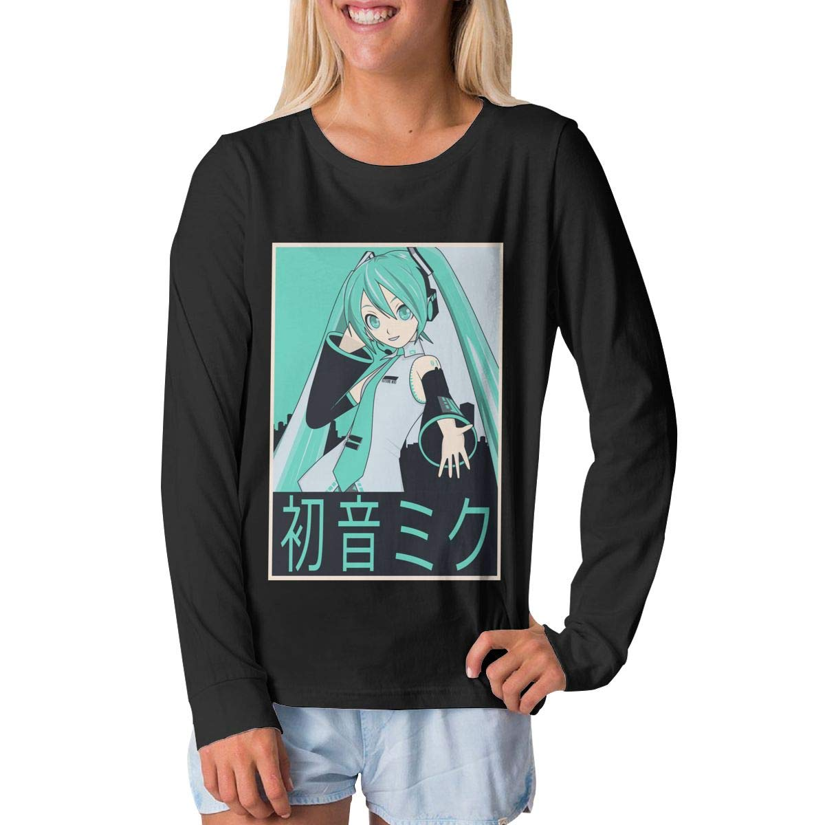 BilliePhillips Youth Hatsune Miku Fashion Long Sleeve T-Shirt