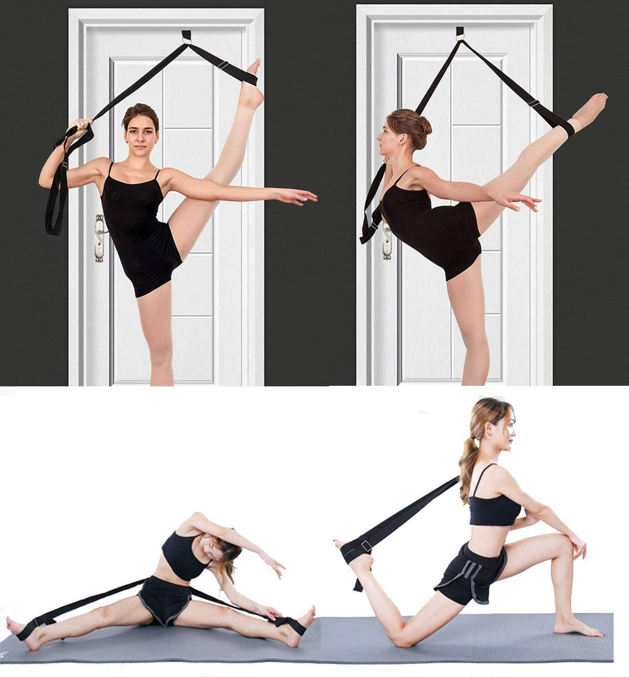 Leg Stretcher Spreader 3 Bar Flexibility Ballet Dance 2/'x6/' Foldable Mat /& Belt