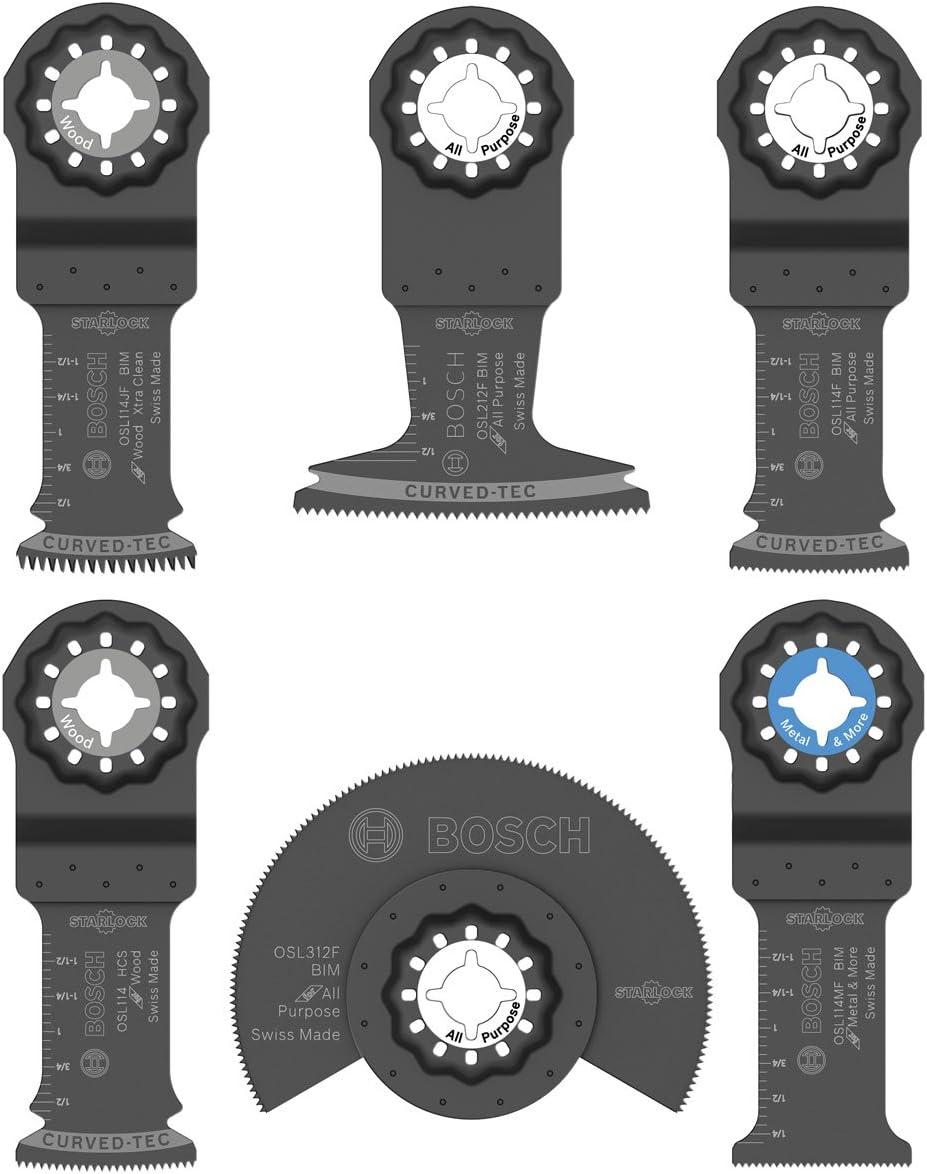 Bosch OSL006 Six-Piece Starlock Oscillating Multi Tool Accessory Set with Pouch