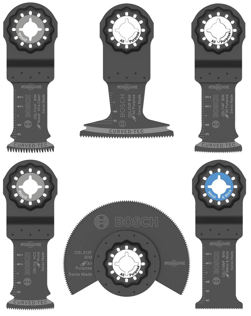 Bosch OSL006 Six-Piece Starlock Accessory Set with Pouch