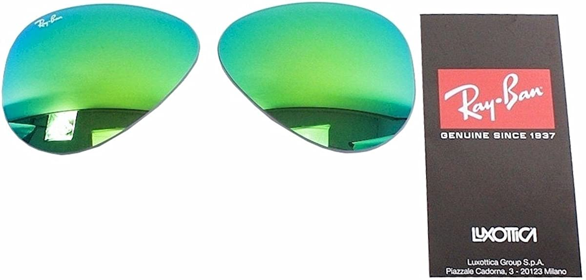 Amazon.com: Ray Ban RB3025 3025 RayBan Sunglasses Replacement Lens  FlashMirror Green Size-62: Clothing