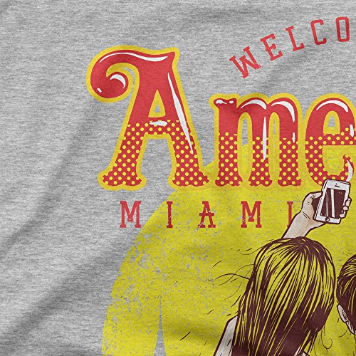 Welcome To America Miami Beach Femme T-shirt
