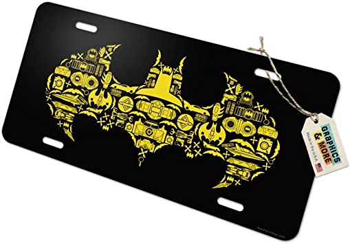 Graphics and More Batman Logo Novelty Metal Vanity Tag License Plate