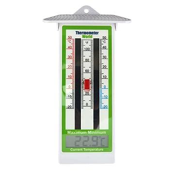 Termómetro digital con temperatura máxima y mínima, para el