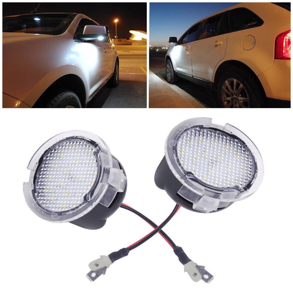 Haichen 2pcs High Power White LED Side Mirror Puddle Lights