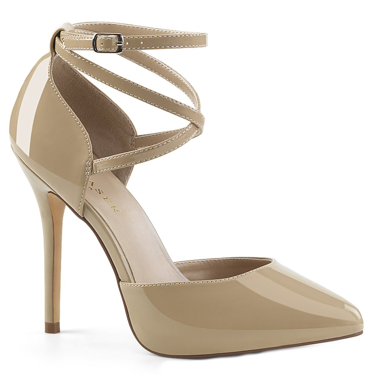 071c785d9e Higher Heels PleaserUSA Womens High Heels Courts Amuse-25 cream patent:  Amazon.co.uk: Shoes & Bags