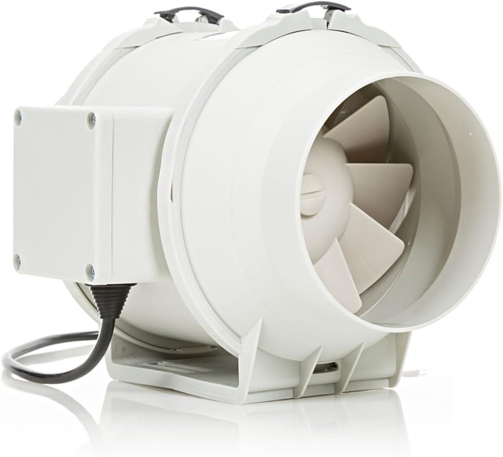 STERR – Extractor en línea con ventilador de conductos silenciosos con temporizador 100 mm – DFA100T