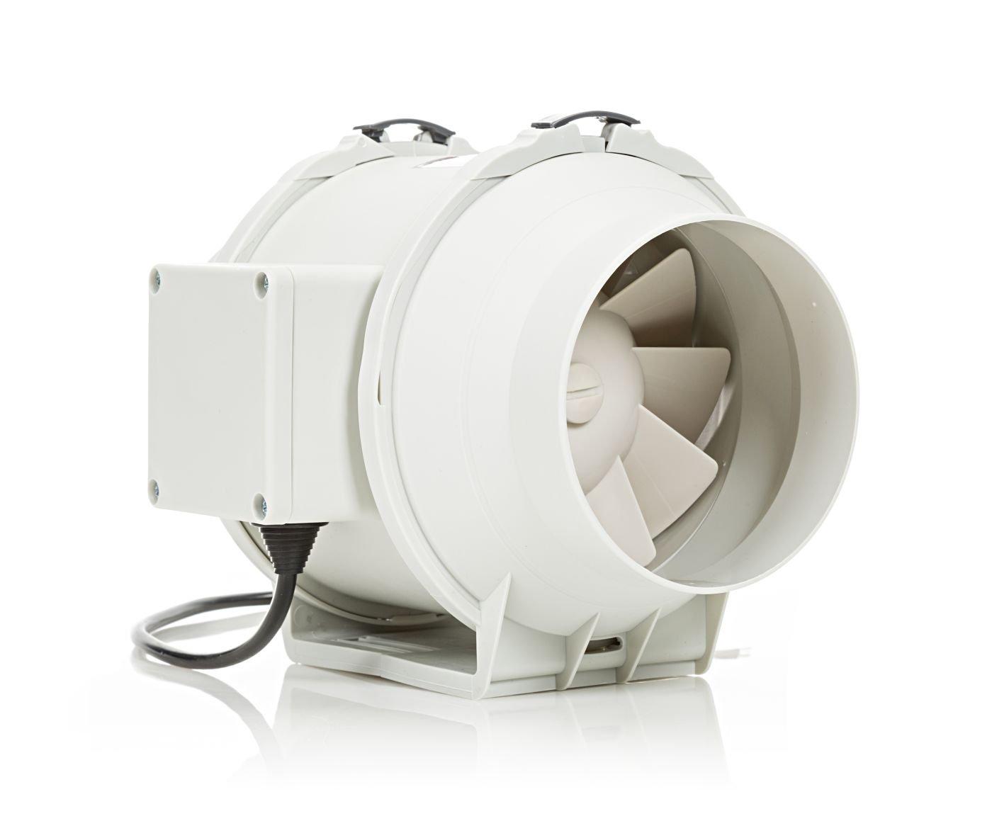 color blanco Silenta 100 mm ventilador silencioso de un extractor de ba/ño t100