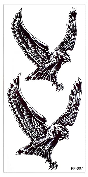 Águila Tattoo Fake Tattoo Arm Tattoo para cuerpo ff007: Amazon.es ...