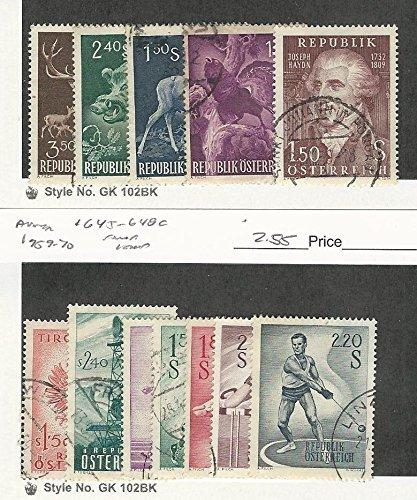Austria, Postage Stamp, 640-4, 645-8c Used, 1959 Sports, ()