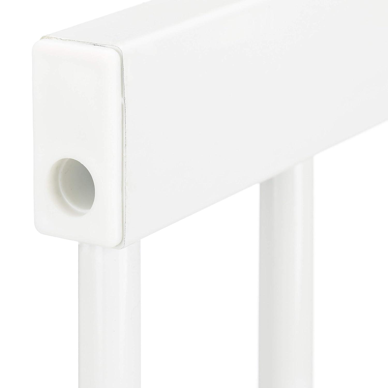 Ferro Prolunga L: 10 cm 76,00 x 10,00 x 2,00cm Bianco Relaxdays 10026104/_58 Estensione per Cancelletto di Sicurezza per Scale Sistema ad Incastro
