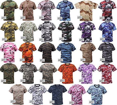Desert Tiger Stripe Camouflage T-Shirt with ARMY UNIVERSE® Pin - Size 2X- 73f662af98a
