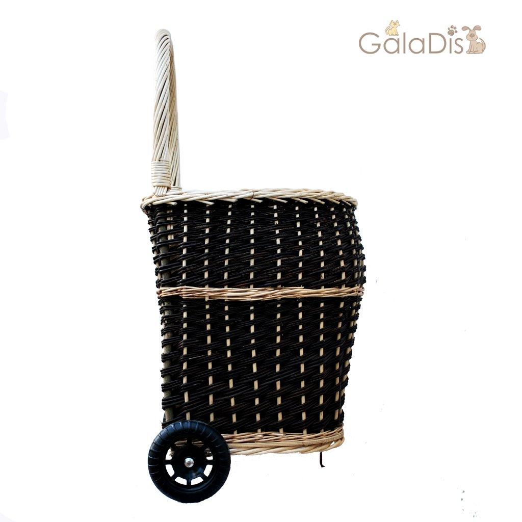 GalaDis - Carro de mimbre para leña (revestimiento interior y ruedas, tamaño muy grande): Amazon.es: Bricolaje y herramientas