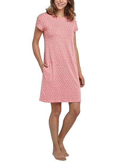 e5c90dd135 Schiesser Damen Negligee Sleepshirt 1/4 Arm, 90cm, Rot (Grapefruit 526)