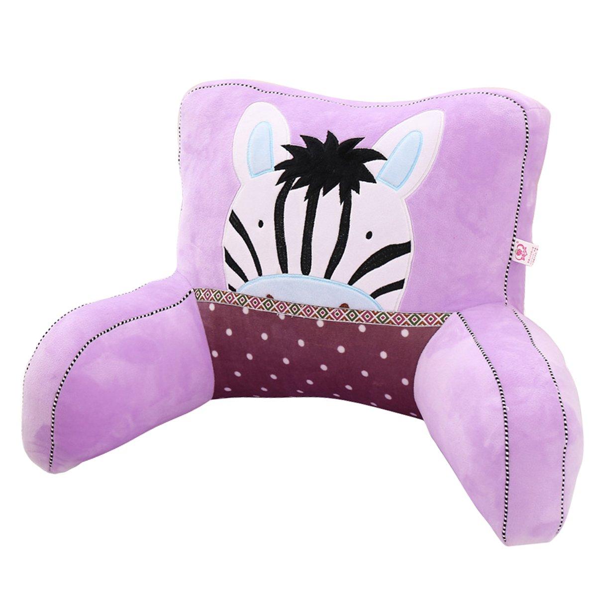 Adorable Purple Zebra Lumbar Support Backrest Pillow Waist Seat Back Cushion Pillow in Home Office School Car