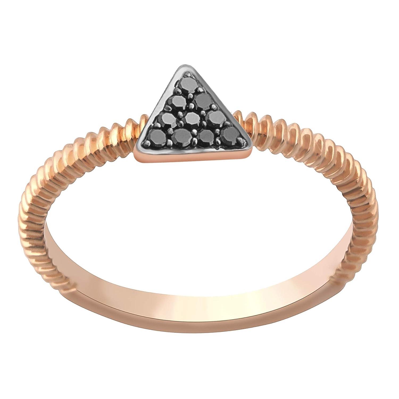 14k Gold Fancy Ring Black Diamond Ring Goldenstar 0.07Ct