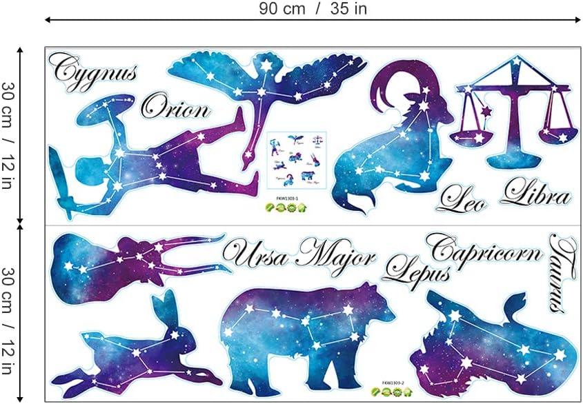ufengke Pegatinas de Pared Iconos de Constelaciones Vinilos ...