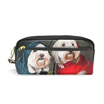 bennigiry dressed up perros bajo paraguas School Bolsa de lápiz para los niños, niños gran