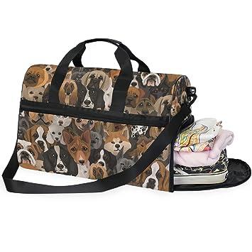 Amazon.com: AHOMY Husky Dog Bulldog Bolsa de deporte para ...