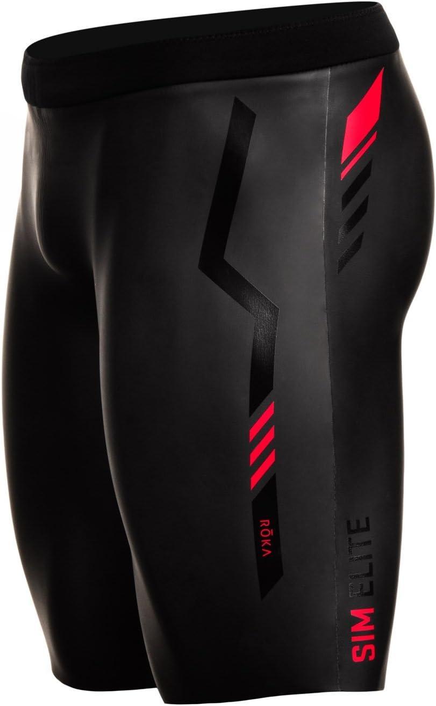 ROKA Men's SIM Elite II Neoprene Buoyancy Shorts for Swimming Racing and Triathlon