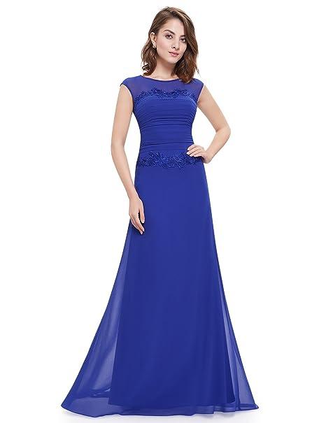 Ever-Pretty - Vestido - para mujer Azul Zafiro Azul 44