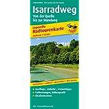 Isarradweg, von der Quelle bis zur Mündung: Leporello Radtourenkarte mit Ausflugszielen, Einkehr- & Freizeittipps, Straßennamen, wetterfest, ... 1:50000 (Leporello Radtourenkarte / LEP-RK)