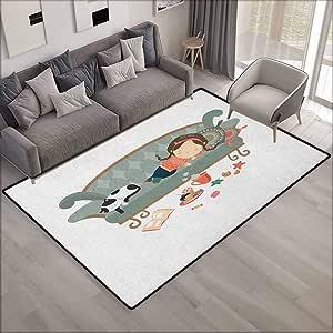 Alfombra de área Grande, diseño de Gato durmiendo con su