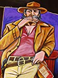 ONCE UPON A TIME IN THE WEST PRINT POSTER Movie spaghetti western dvd Charles Bronson blu-ray harp harmonica