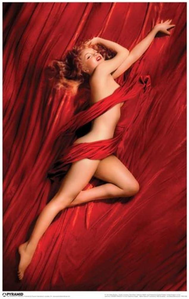 Pyramid America Marilyn Monroe Red Velvet Cool Wall Decor Art Print Poster 12x18