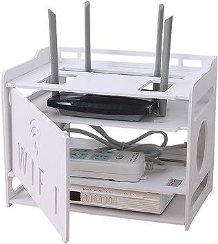 Support de bo/îte d/écodeur de bo/îte de stockage sans fil de routeur ligne de c/âble dalimentation de bo/îte de stockage de WIFI poin/çon libre de mur