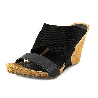 Unlisted Kenneth Cole Cob Web Women US 7.5 Black Wedge Sandal