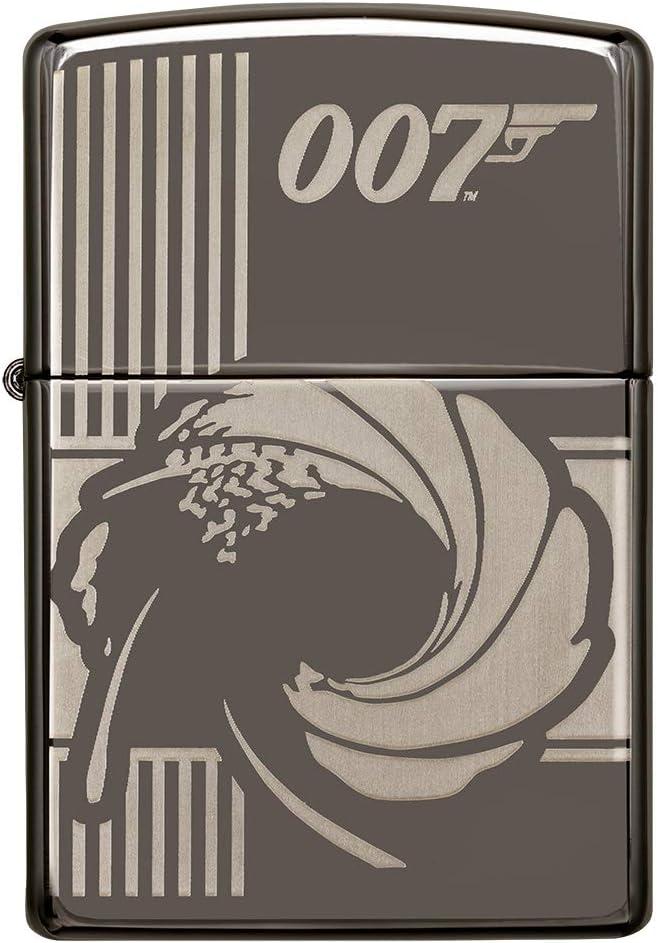 ZIPPO Mechero de Gasolina Recargable de James Bond 007, en Caja de Regalo