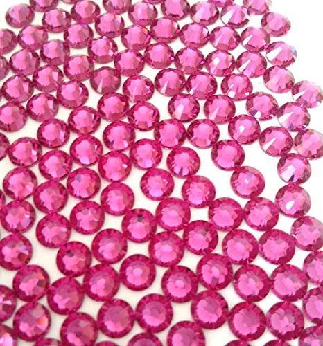 HOTFIX Fuchsia Hot Pink Crystal Rhinestones Flatback 144 SWAROVSKI 4.8mm 20ss ss20 - Pink Hot Fix Rhinestones