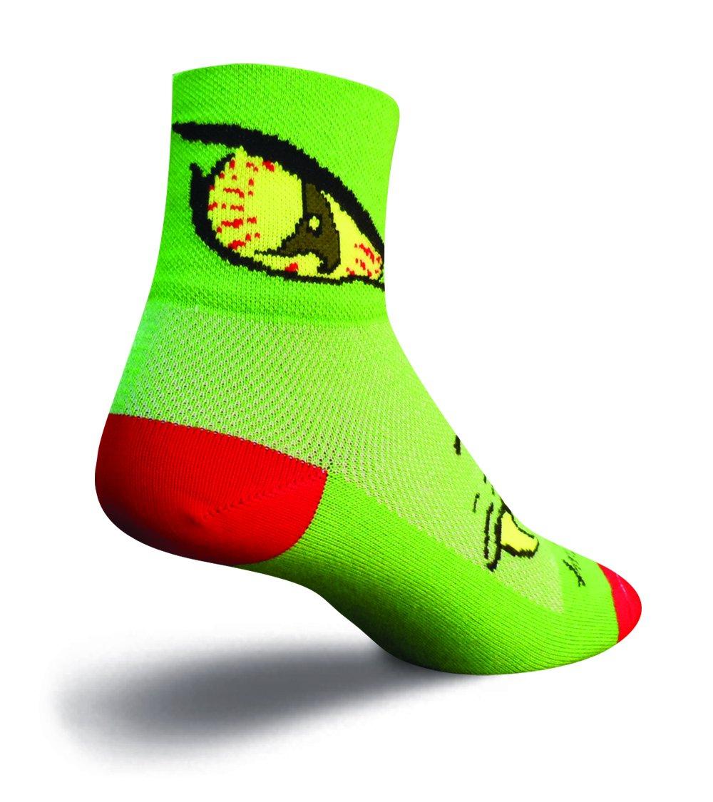 SockGuy Classic 3in Monster Eat Me Cycling/Running Socks